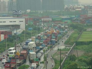 Shanghai port congestion