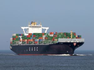 UASC; Al Khor approaching Rotterdam