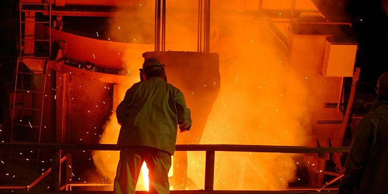 china steel mill