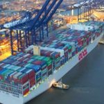 COSCO OOCL merger; OOCL Hong Kong pictured