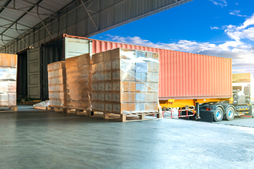 Pallet loadings for shipping containers